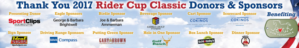 2017 Rider Cup Classic Donors & Sponsors